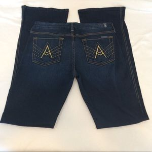 7 For All Mankind 'A' Pocket Dark Wash Flare Jeans